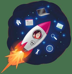 Opleiding Technisch Virtual Assistant - Manuela in raket